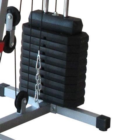 Многофункциональный тренажер с встроенным весовым стеком. Позволяет выполнять комплекс упражнений на различные группы мышц.