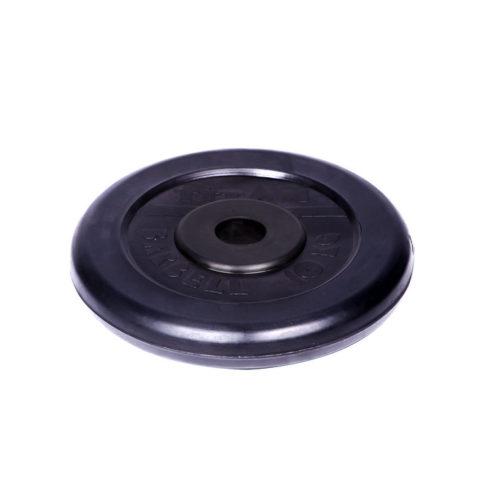 Диск обрезиненный Титан d 26 мм чёрный 10 кг-арт 00000001064 Титан