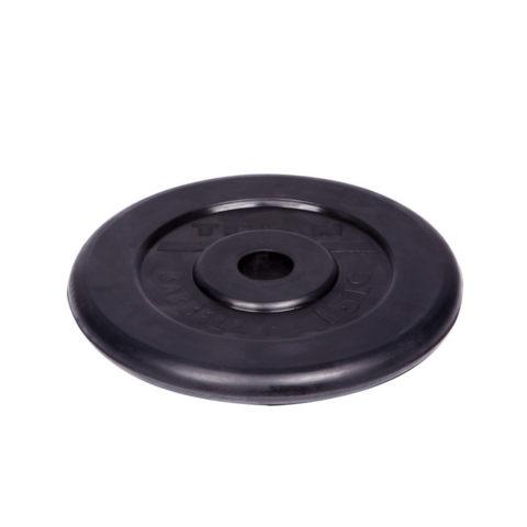 Диск обрезиненный Титан d 26 мм чёрный 15 кг-арт 00000001065 Титан
