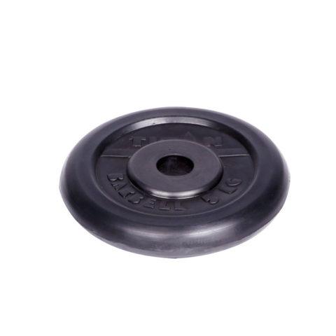 Диск обрезиненный Титан d 26 мм чёрный 5 кг-арт 00000001063 Титан