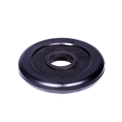 Диск обрезиненный Титан d 51 мм чёрный 10 кг-арт 00000001078 Титан