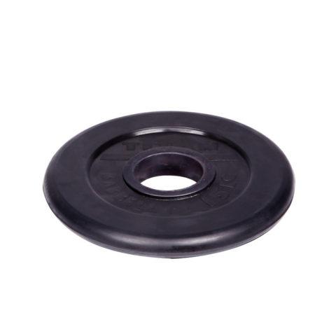 Диск обрезиненный Титан d 51 мм чёрный 15 кг-арт 00000001079 Титан