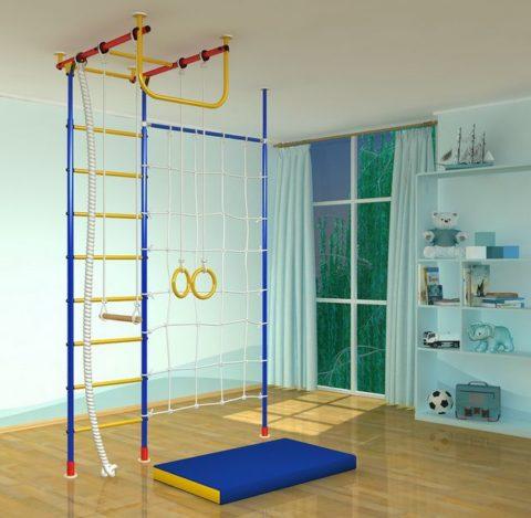 Детский спортивный комплекс Самсон-2.2 Г с сеткой + стойка-арт 00000000096 Самсон