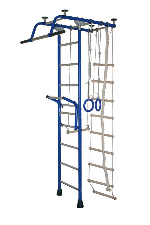 Детский спортивный комплекс Крепыш плюс Т с навесным турником синий-арт SG000000843 Крепыш