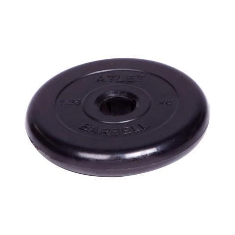 Диск обрезиненный Barbell Atlet d 51 мм чёрный 1