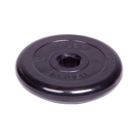Диск обрезиненный Barbell Atlet d 51 мм чёрный 2