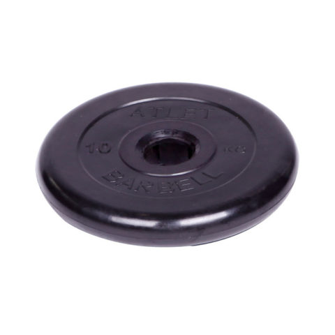 Диск обрезиненный Barbell Atlet d 51 мм чёрный 10 кг-арт SG000001048 Barbell