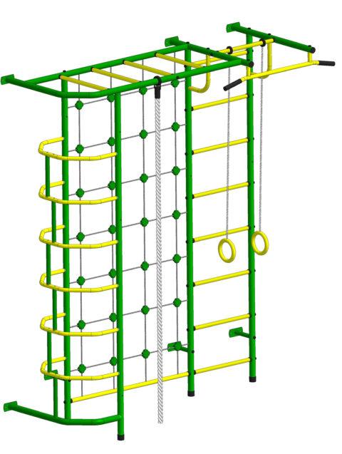 Детский спортивный комплекс Пионер С5С зелёно/жёлтый-арт SG000001503 Пионер