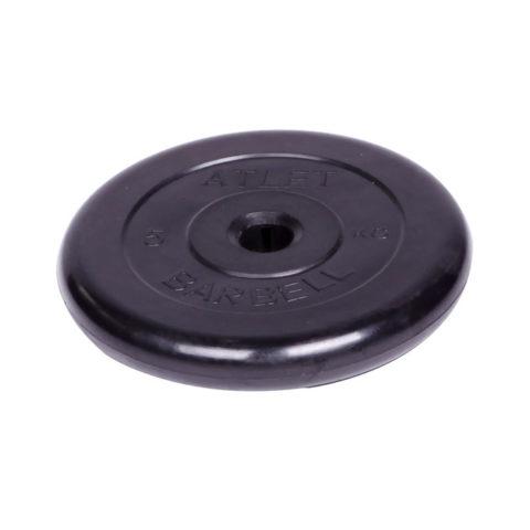 Диск обрезиненный Barbell Atlet d 31 мм чёрный 5 кг-арт SG000001513 Barbell