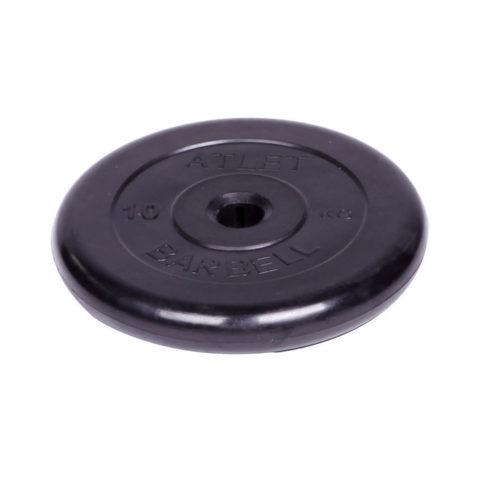 Диск обрезиненный Barbell Atlet d 31 мм чёрный 10 кг-арт SG000001514 Barbell