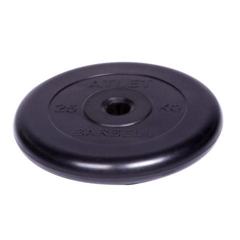 Диск обрезиненный Barbell Atlet d 31 мм чёрный 25 кг-арт SG000001517 Barbell