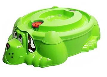"""Песочница-бассейн """"Собачка с крышкой"""" 432 зелёный с зелёной крышкой-арт SG000001675 PalPlay"""