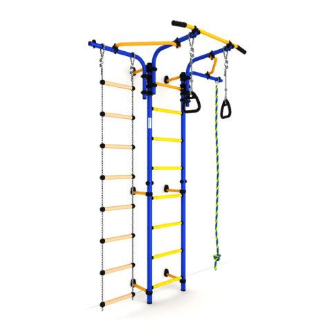 Детский спортивный комплекс Карусель S5 (ДСКМ-2С-8.06.Т1.410.01-14) сине-жёлтый-арт SG000001892 Romana