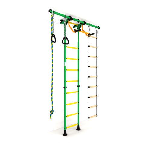 Детский спортивный комплекс Карусель R55 (ДСКМ-2-8.06.Г5.410.01-12) зелёно-жёлтый-арт SG000001903 Romana