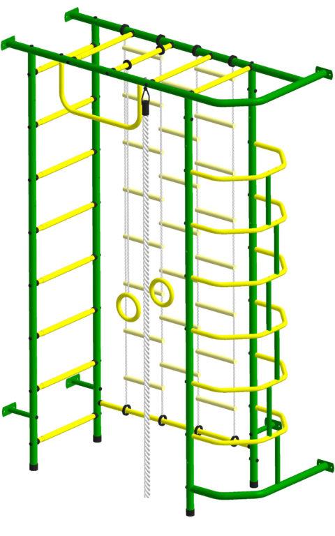 Спортивный комплекс Пионер 9Л зелёно/жёлтый-арт SG000002164 Пионер