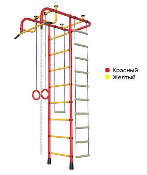 Детский спортивный комплекс Пионер АМ красно/жёлтый-арт 00000002109 Пионер