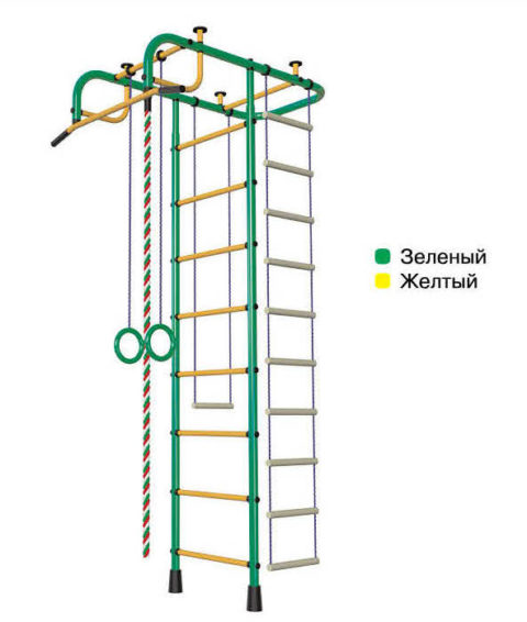 Детский спортивный комплекс Пионер А зелёно/жёлтый-арт 00000002112 Пионер