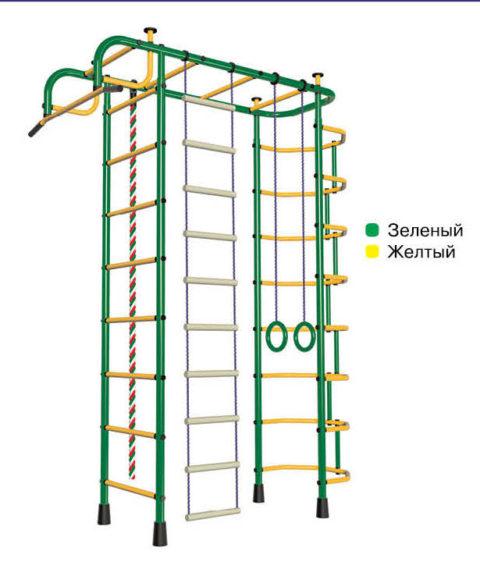 Спортивный комплекс Пионер 2М зелёно/жёлтый-арт SG000000334 Пионер