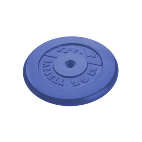 Диск обрезиненный Титан d 26 мм синий 20 кг-арт SG000000081 Титан