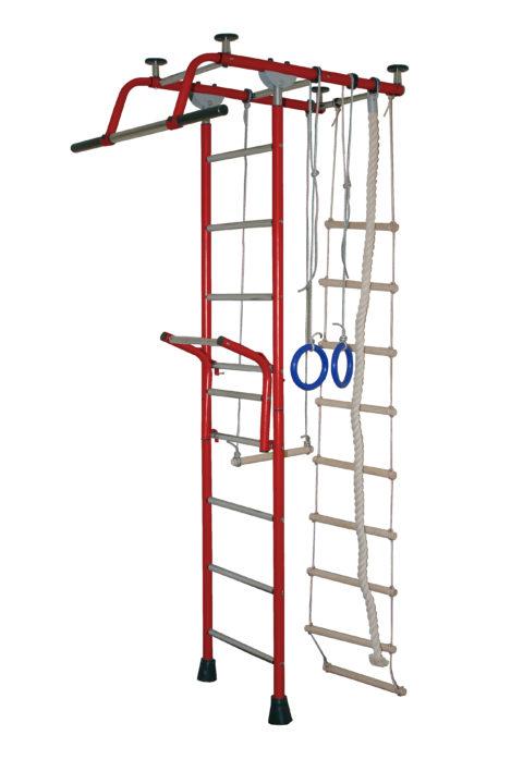 Спортивный комплекс Крепыш плюс Т с навесным турником бордовый-арт 00000002091 Крепыш