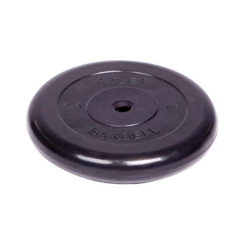 Диск обрезиненный Barbell Atlet d 26 мм чёрный 2
