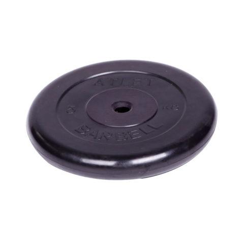 Диск обрезиненный Barbell Atlet d 26 мм чёрный 5 кг-арт 00000002479 Barbell