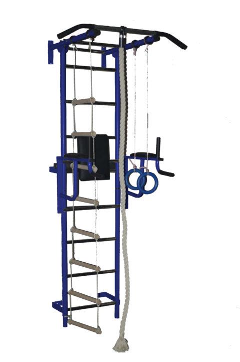 Спортивный комплекс Крепыш плюс пристенный с брусьями - 1 синий-арт SG000002280 Крепыш