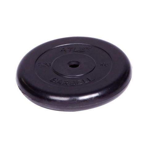Диск обрезиненный Barbell Atlet d 26 мм чёрный 1