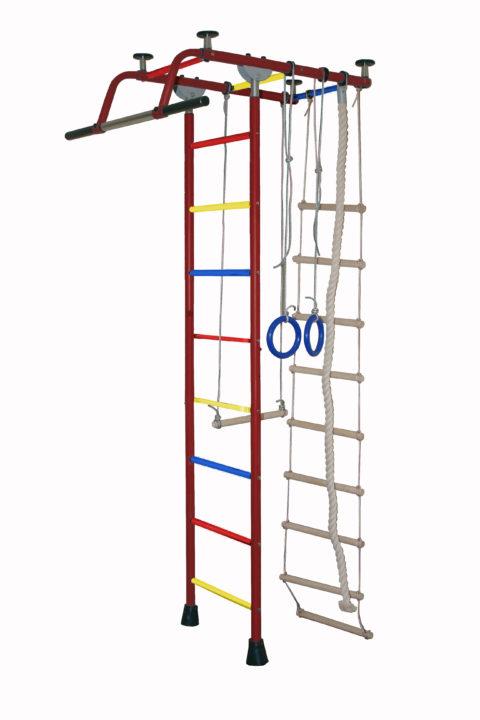 Детский спортивный комплекс Крепыш плюс Т ПВХ бордовый-арт SG000002454 Крепыш