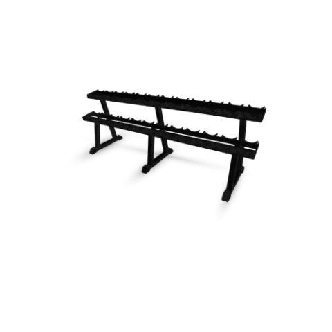 Стойка для хранения профессиональных гантелей Barbell МВ 1.18 на 12 пар чёрный-арт SG000000585 Barbell