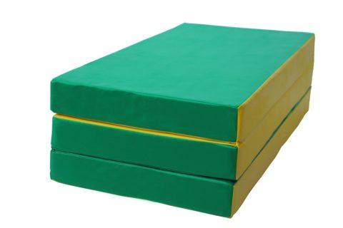 Мат № 4 КМС (100 х 150 х 10) складной зелёно/жёлтый-арт 00000001961 КМС
