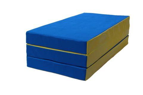 Мат № 4 КМС (100 х 150 х 10) складной сине/жёлтый-арт 00000000917 КМС