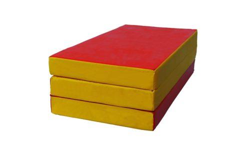 Мат № 4 КМС (100 х 150 х 10) складной красно/жёлтый-арт 00000001962 КМС