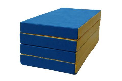 Мат № 5 КМС (100 х 200 х 10) складной 3 сложения сине/жёлтый-арт 00000000116 КМС