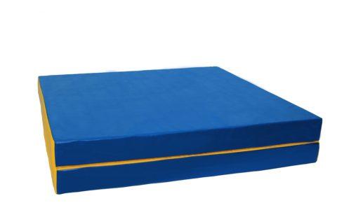 Мат № 8 КМС (100 х 200 х 10) складной 1 сложение сине/жёлтый-арт SG000001832 КМС