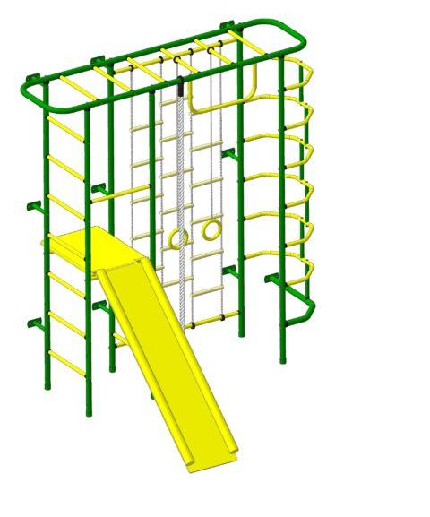 Спортивный комплекс Пионер С7ЛМ зелёно/жёлтый-арт SG000003153 Пионер