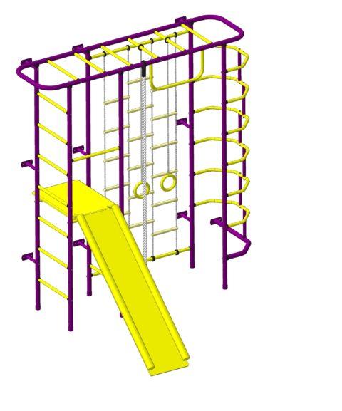 Спортивный комплекс Пионер С7Л пурпурно/жёлтый-арт SG000003150 Пионер