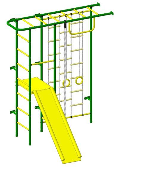 Детский спортивный комплекс Пионер 11Л зелёно/жёлтый-арт SG000003078 Пионер