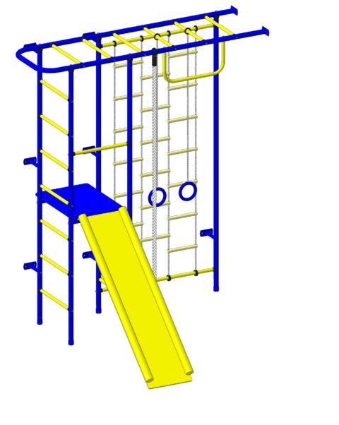 Спортивный комплекс Пионер 11ЛМ сине/жёлтый-арт SG000003086 Пионер
