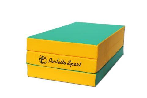 Мат Perfetto Sport № 4 (100 х 150 х 10) складной зелёно/жёлтый-арт SG000000400 Perfetto Sport