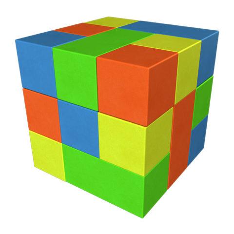 Кубик-Рубика мини Романа ДМФ-МК-13.90.29-арт SG000003414 Romana