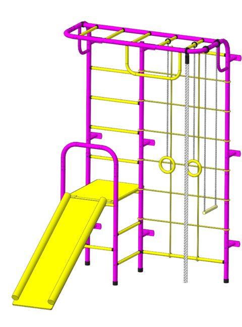 Детский спортивный комплекс Пионер С107 пурпурно/жёлтый-арт SG000003492 Пионер