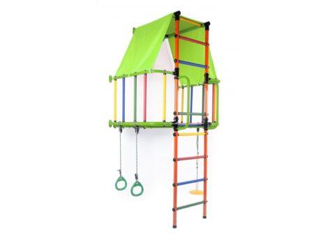 Детский спортивный комплекс Формула здоровья Индиго L Плюс салатовый/оранжевый/радуга-арт SG000002987 Формула здоровья