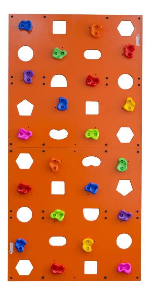 Скалодром пристенный Формула здоровья 1000*2000 стандарт Эльбрус с отверстиями оранжевый-арт SG000003515 Формула здоровья