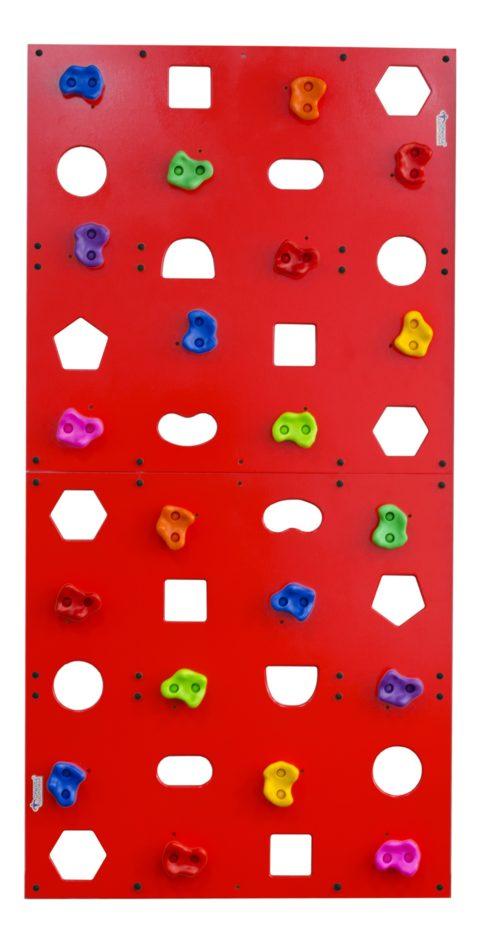 Скалодром пристенный Формула здоровья 1000*2000 стандарт Эльбрус с отверстиями красный-арт SG000003514 Формула здоровья