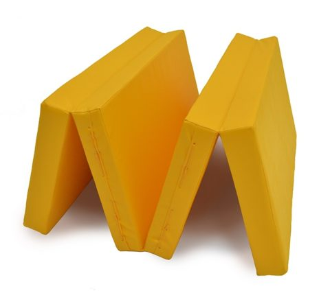 "Мат № 5 (100 х 200 х 10) складной 3 сложения ""КМС"" жёлтый-арт SG000003550 КМС"