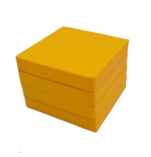"Мат № 11 (100 х 100 х 10) складной 4 сложения ""КМС"" жёлтый-арт SG000003546 КМС"