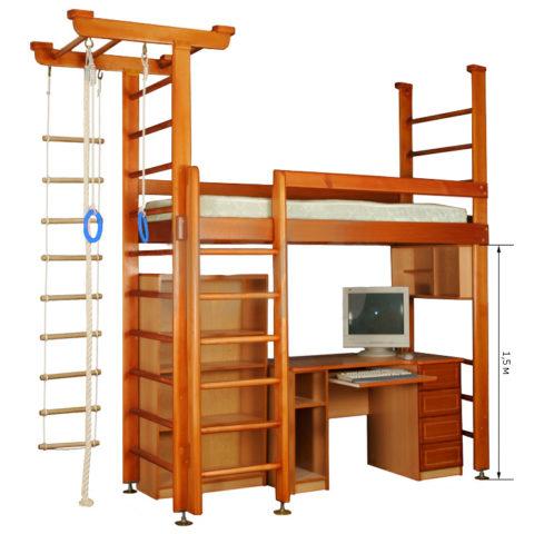 Кровать чердак Карусель 4Д.02.01 без мебели-арт 00000000673 Карусель