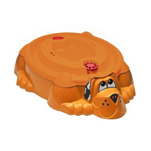 """Песочница-бассейн """"Собачка с крышкой"""" 432 оранжевый с оранжевой крышкой-арт SG000004484 PalPlay"""