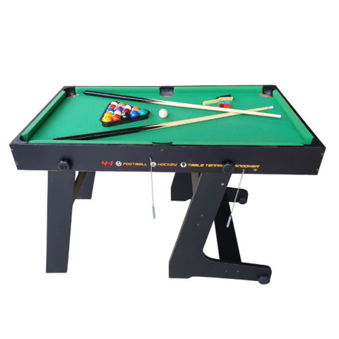 Стол - трансформер 4 игры в 1: бильярд / хоккей / соккер / настольный теннис.